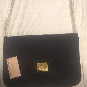 Leather a suede j.crew purse.
